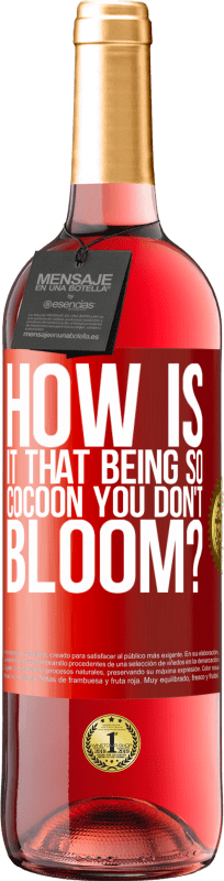24,95 € Free Shipping   Rosé Wine ROSÉ Edition how is it that being so cocoon you don't bloom? Red Label. Customizable label Young wine Harvest 2020 Tempranillo