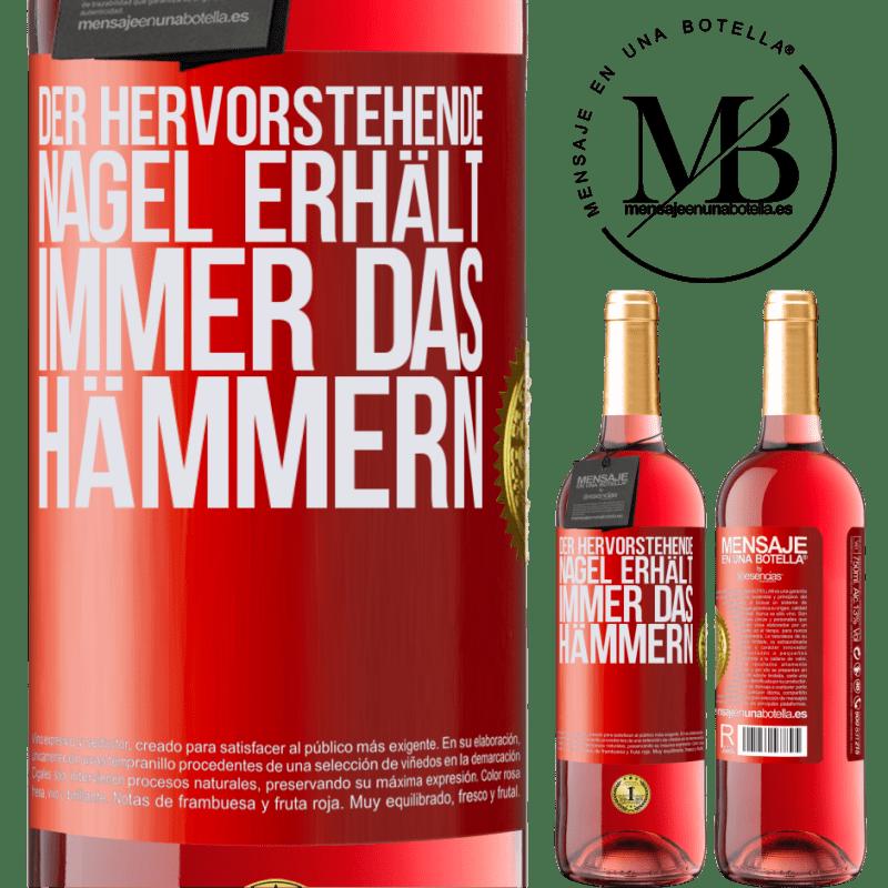 24,95 € Kostenloser Versand | Roséwein ROSÉ Ausgabe Der hervorstehende Nagel erhält immer das Hämmern Rote Markierung. Anpassbares Etikett Junger Wein Ernte 2020 Tempranillo