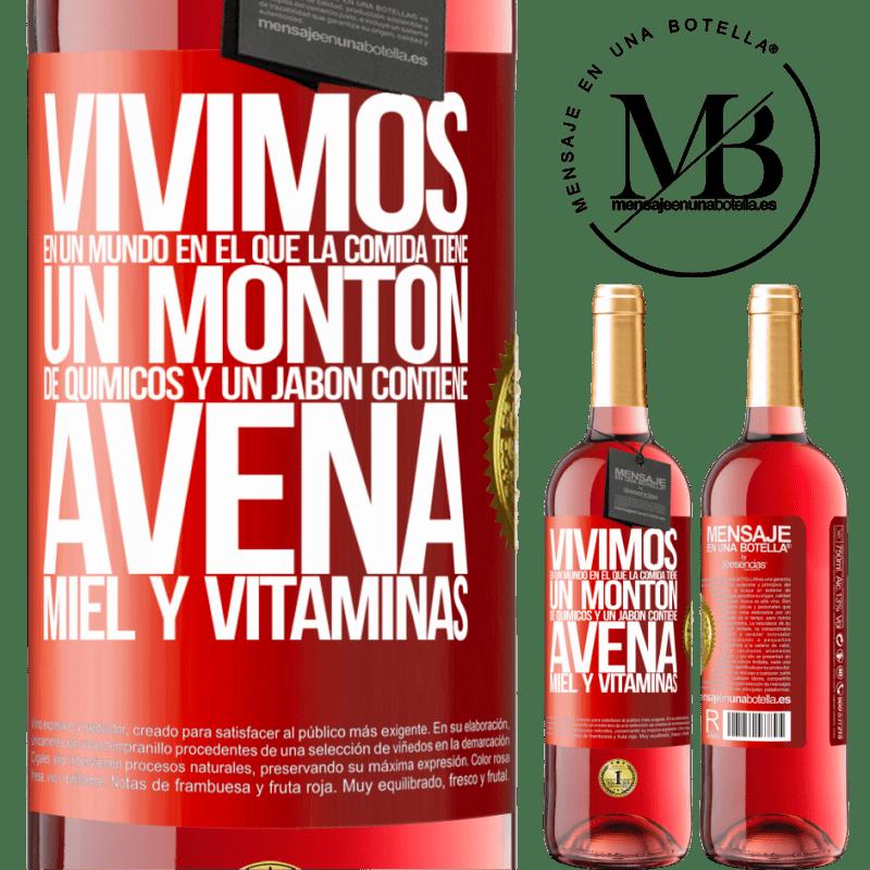 24,95 € Envoi gratuit   Vin rosé Édition ROSÉ Nous vivons dans un monde où la nourriture contient beaucoup de produits chimiques et un savon contient de la farine Étiquette Rouge. Étiquette personnalisable Vin jeune Récolte 2020 Tempranillo