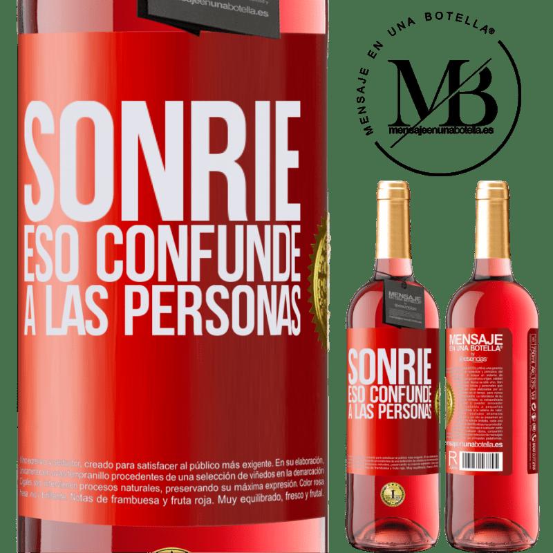 24,95 € Envoi gratuit | Vin rosé Édition ROSÉ Sourire, qui déroute les gens Étiquette Rouge. Étiquette personnalisable Vin jeune Récolte 2020 Tempranillo