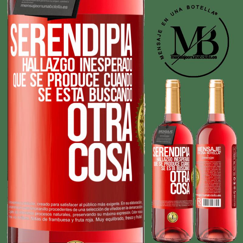 24,95 € Envoi gratuit   Vin rosé Édition ROSÉ Serendipity Découverte inattendue qui se produit lorsque vous recherchez autre chose Étiquette Rouge. Étiquette personnalisable Vin jeune Récolte 2020 Tempranillo