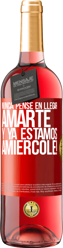 24,95 € Free Shipping | Rosé Wine ROSÉ Edition I never thought of getting to love you. And we are already Amiércole! Red Label. Customizable label Young wine Harvest 2020 Tempranillo