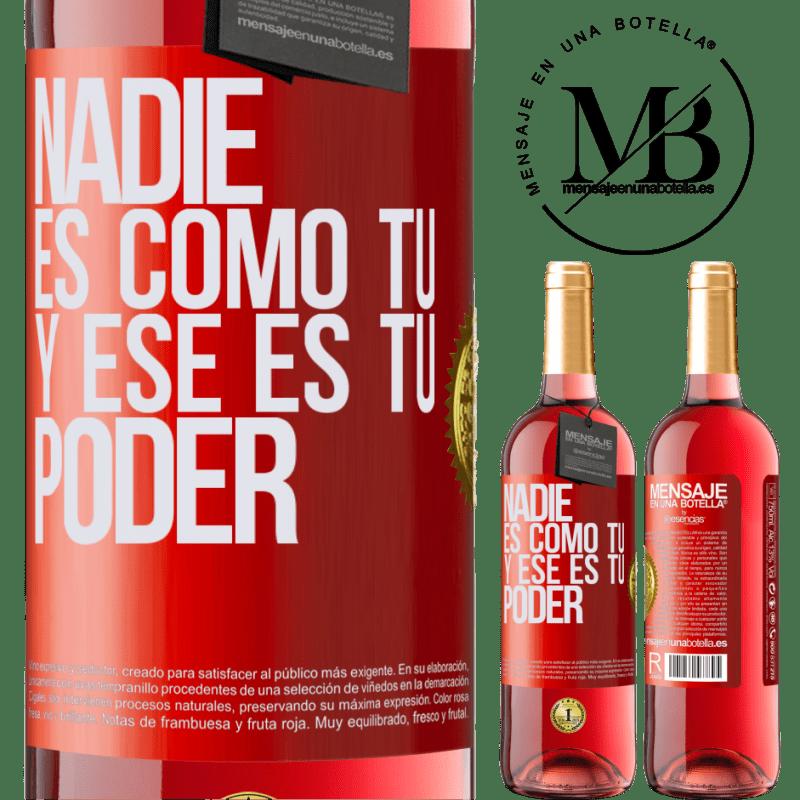 24,95 € Envoi gratuit | Vin rosé Édition ROSÉ Personne n'est comme toi, et c'est ton pouvoir Étiquette Rouge. Étiquette personnalisable Vin jeune Récolte 2020 Tempranillo