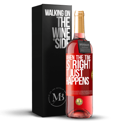 «When the time is right, it just happens» ROSÉ Edition