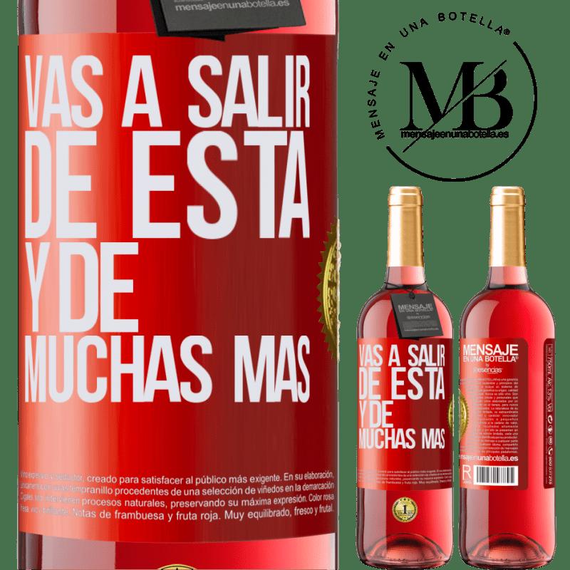 24,95 € Envoi gratuit | Vin rosé Édition ROSÉ Vous quitterez cela et bien d'autres Étiquette Rouge. Étiquette personnalisable Vin jeune Récolte 2020 Tempranillo