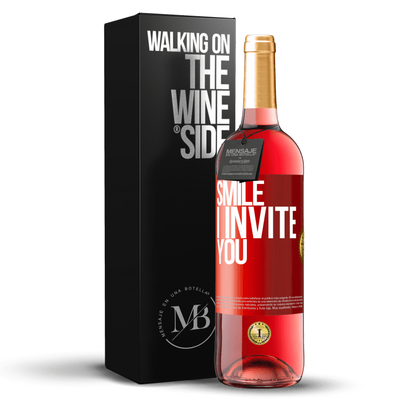 24,95 € Free Shipping | Rosé Wine ROSÉ Edition Smile I invite you Red Label. Customizable label Young wine Harvest 2020 Tempranillo