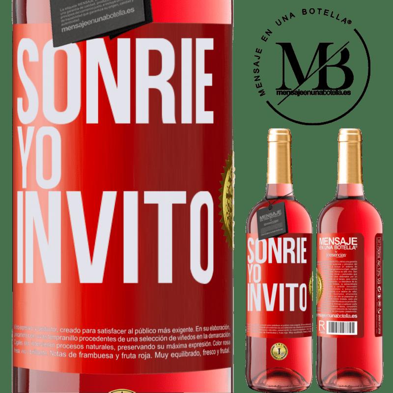 24,95 € Envoi gratuit   Vin rosé Édition ROSÉ Souris, j'invite Étiquette Rouge. Étiquette personnalisable Vin jeune Récolte 2020 Tempranillo