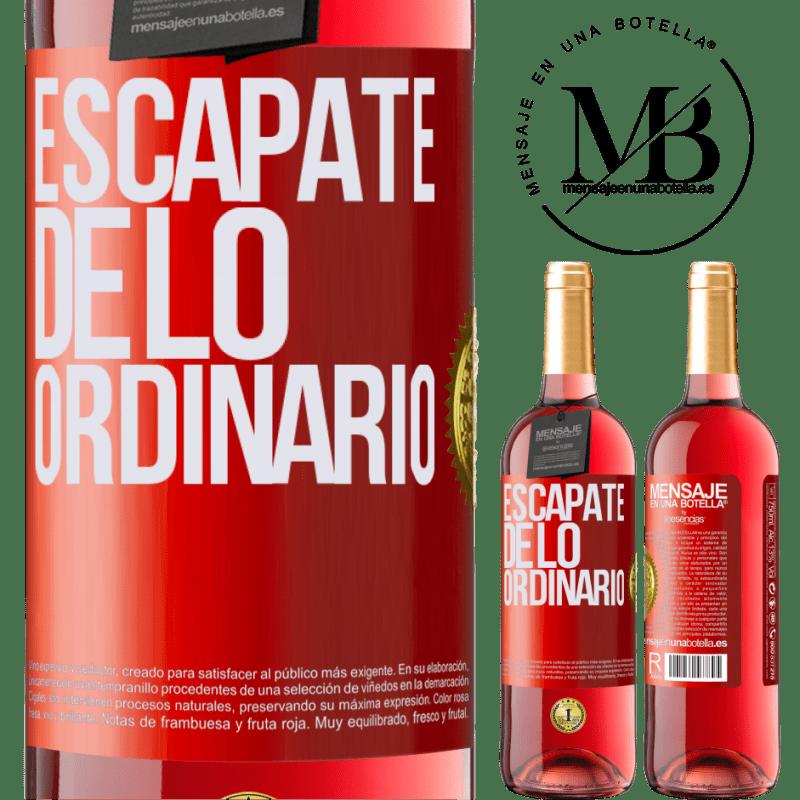 24,95 € Envoi gratuit | Vin rosé Édition ROSÉ Échapper à l'ordinaire Étiquette Rouge. Étiquette personnalisable Vin jeune Récolte 2020 Tempranillo