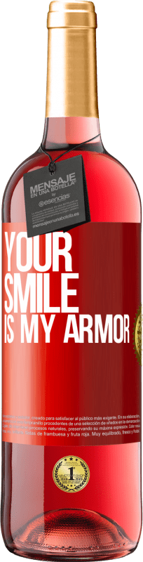 24,95 € Free Shipping | Rosé Wine ROSÉ Edition Your smile is my armor Red Label. Customizable label Young wine Harvest 2020 Tempranillo