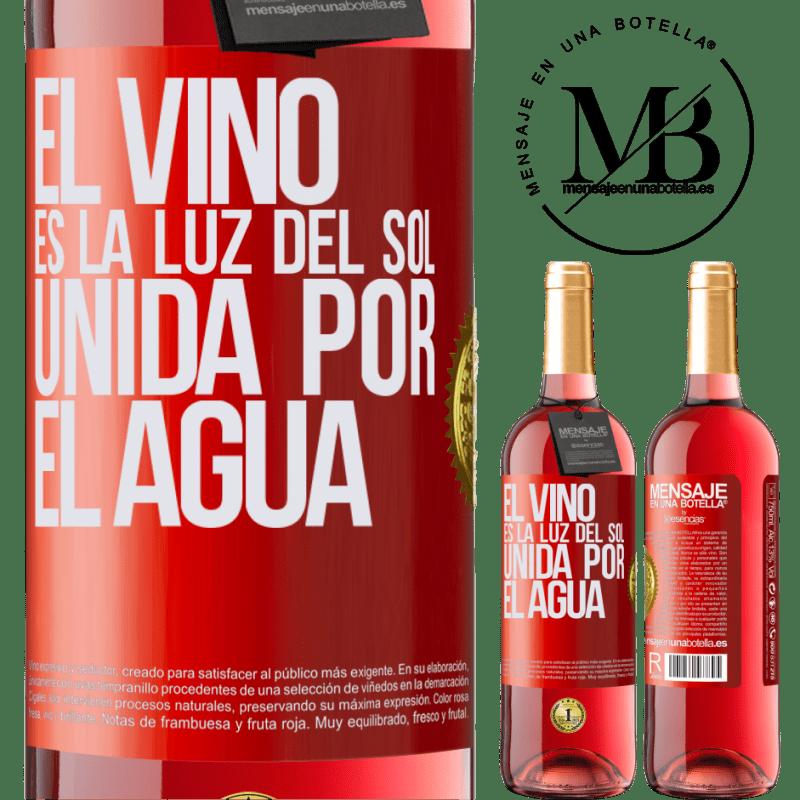 24,95 € Envoi gratuit   Vin rosé Édition ROSÉ Le vin est la lumière du soleil, unie par l'eau Étiquette Rouge. Étiquette personnalisable Vin jeune Récolte 2020 Tempranillo