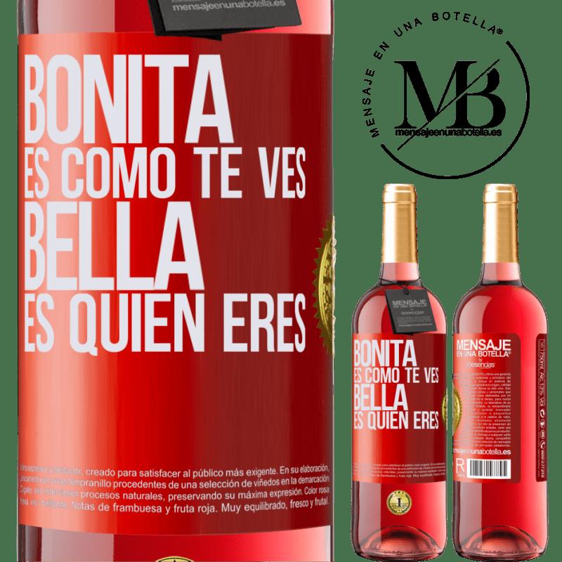 24,95 € Envoi gratuit   Vin rosé Édition ROSÉ C'est joli à quoi tu ressemble, belle est qui tu es Étiquette Rouge. Étiquette personnalisable Vin jeune Récolte 2020 Tempranillo