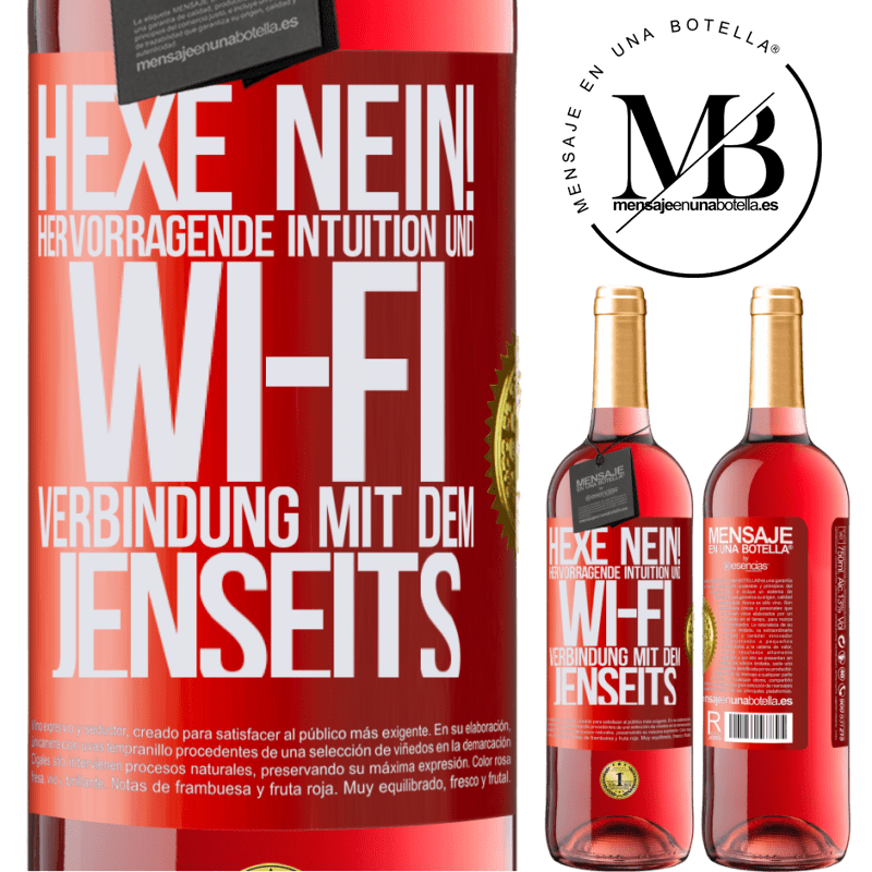 24,95 € Kostenloser Versand   Roséwein ROSÉ Ausgabe hexe nein! Hervorragende Intuition und Wi-Fi-Verbindung mit dem Jenseits Rote Markierung. Anpassbares Etikett Junger Wein Ernte 2020 Tempranillo
