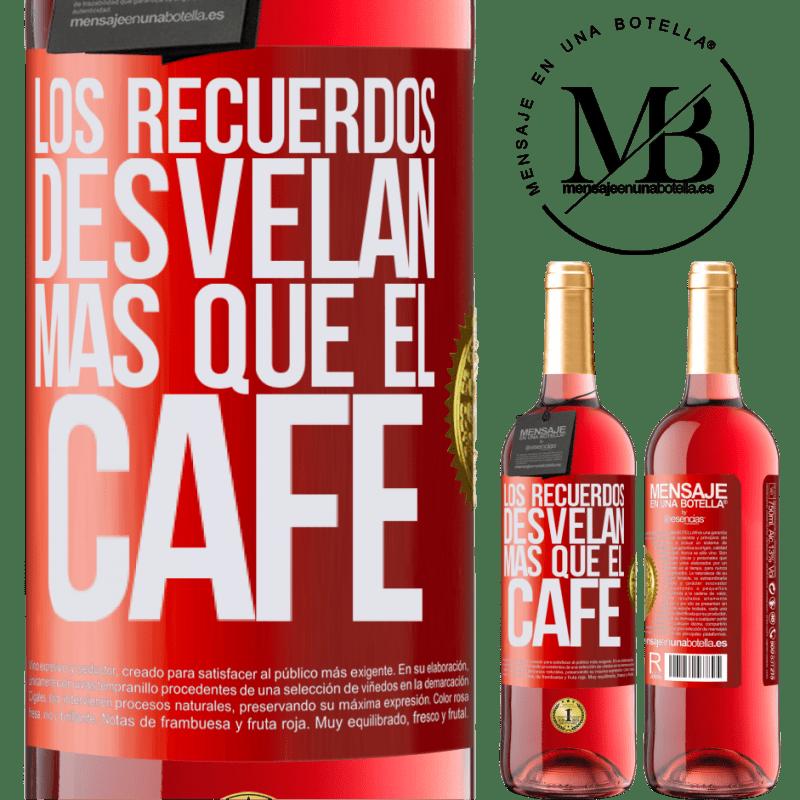 24,95 € Envoi gratuit | Vin rosé Édition ROSÉ Les souvenirs révèlent plus que du café Étiquette Rouge. Étiquette personnalisable Vin jeune Récolte 2020 Tempranillo