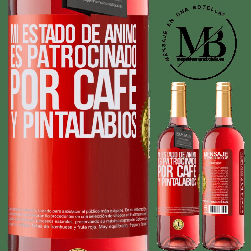 24,95 € Envoi gratuit   Vin rosé Édition ROSÉ Mon humeur est parrainée par le café et le rouge à lèvres Étiquette Rouge. Étiquette personnalisable Vin jeune Récolte 2020 Tempranillo