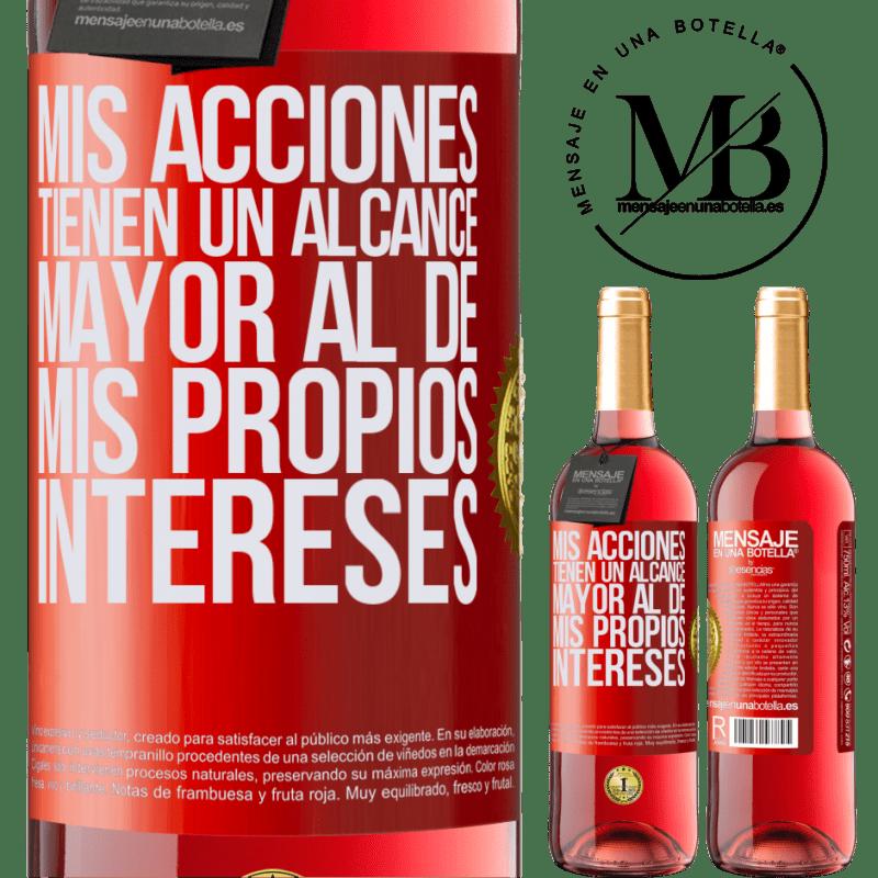 24,95 € Envoi gratuit | Vin rosé Édition ROSÉ Mes actions ont une portée plus grande que mes propres intérêts Étiquette Rouge. Étiquette personnalisable Vin jeune Récolte 2020 Tempranillo