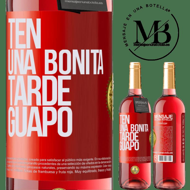 24,95 € Envoi gratuit   Vin rosé Édition ROSÉ Passez un bon après-midi, beau Étiquette Rouge. Étiquette personnalisable Vin jeune Récolte 2020 Tempranillo