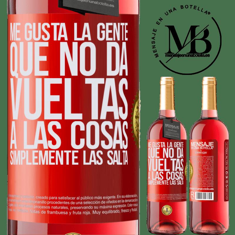 24,95 € Envoi gratuit   Vin rosé Édition ROSÉ J'aime les gens qui ne font pas le tour des choses, juste les sauter Étiquette Rouge. Étiquette personnalisable Vin jeune Récolte 2020 Tempranillo