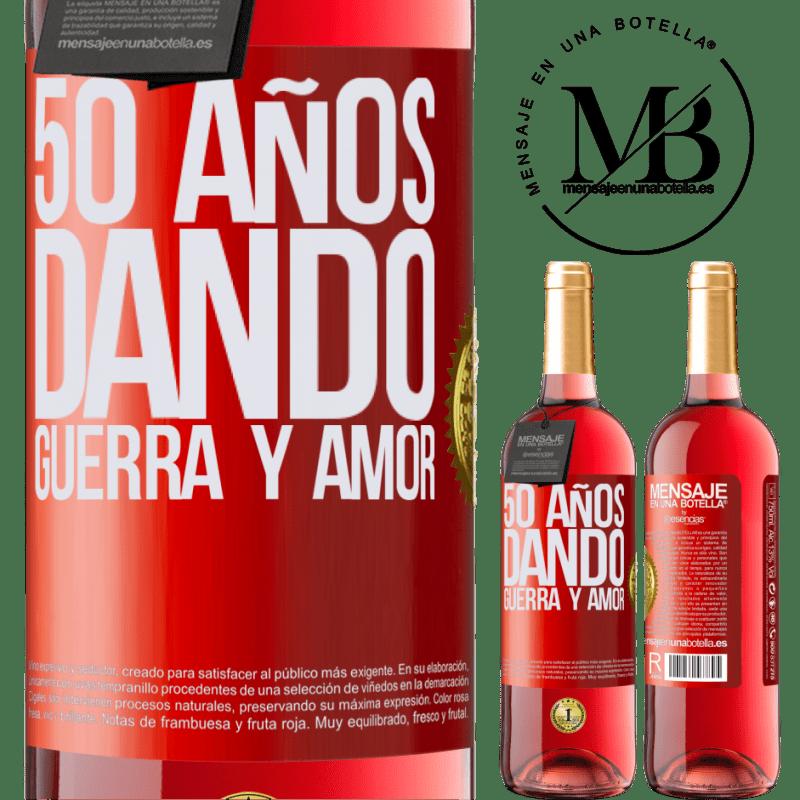 24,95 € Envoi gratuit | Vin rosé Édition ROSÉ 50 ans à donner la guerre et l'amour Étiquette Rouge. Étiquette personnalisable Vin jeune Récolte 2020 Tempranillo