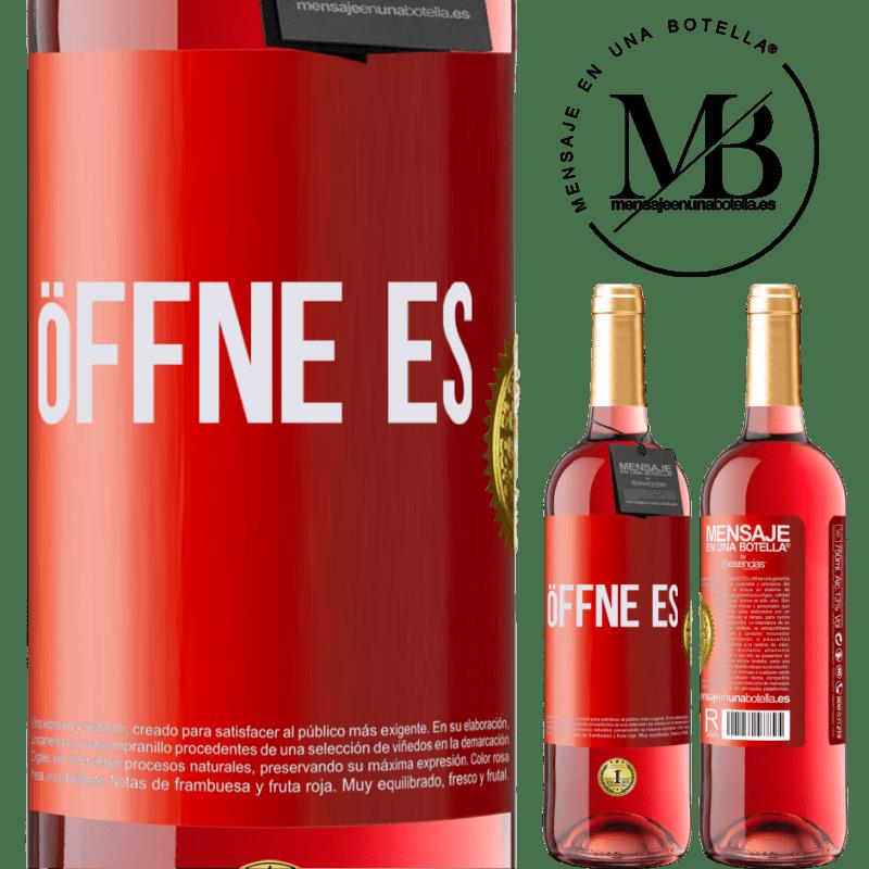 24,95 € Kostenloser Versand | Roséwein ROSÉ Ausgabe Öffne es Rote Markierung. Anpassbares Etikett Junger Wein Ernte 2020 Tempranillo