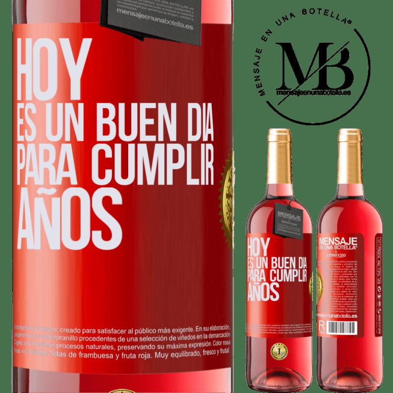 24,95 € Envoi gratuit | Vin rosé Édition ROSÉ Aujourd'hui est une bonne journée pour célébrer les années Étiquette Rouge. Étiquette personnalisable Vin jeune Récolte 2020 Tempranillo