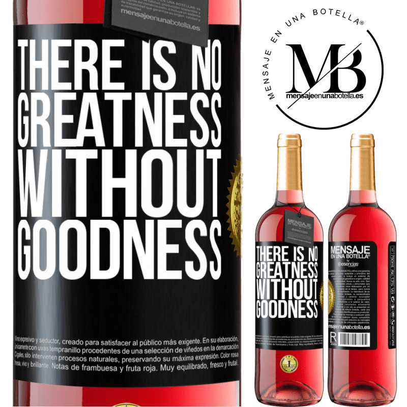 24,95 € Free Shipping | Rosé Wine ROSÉ Edition There is no greatness without goodness Black Label. Customizable label Young wine Harvest 2020 Tempranillo