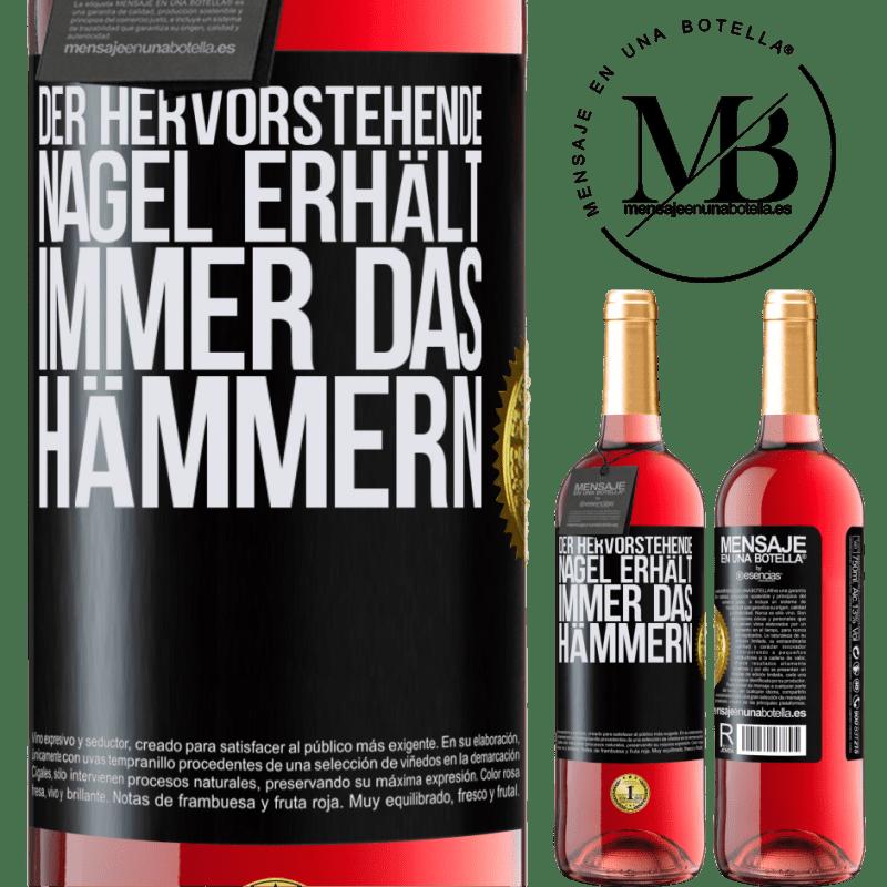 24,95 € Kostenloser Versand | Roséwein ROSÉ Ausgabe Der hervorstehende Nagel erhält immer das Hämmern Schwarzes Etikett. Anpassbares Etikett Junger Wein Ernte 2020 Tempranillo