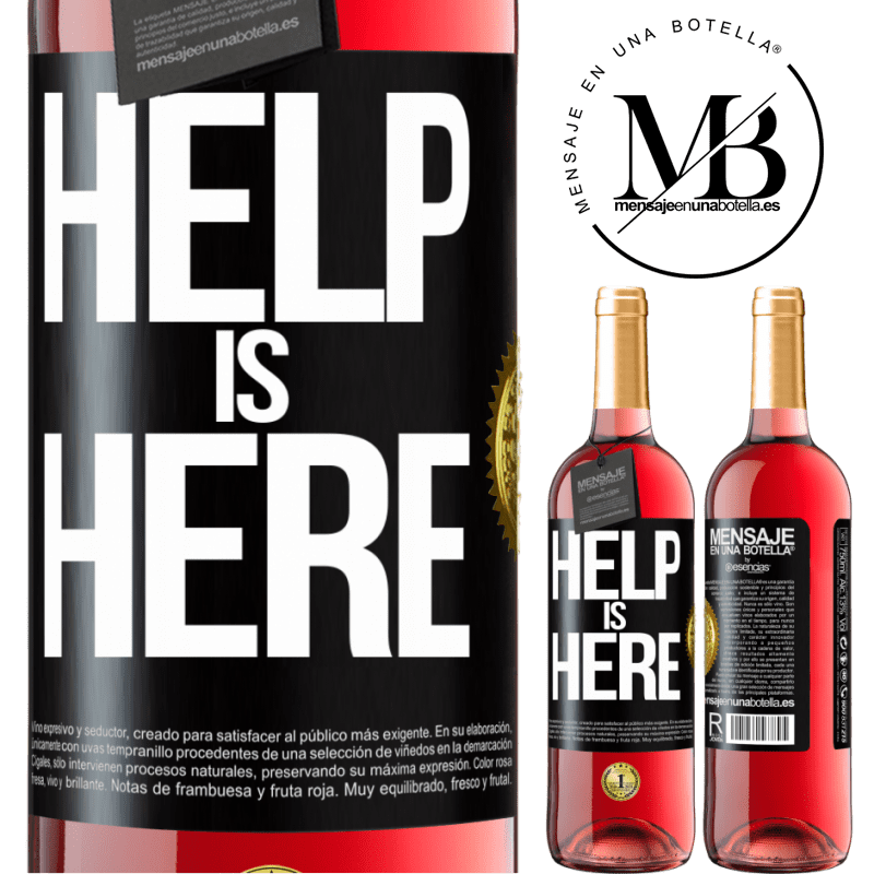 24,95 € Free Shipping | Rosé Wine ROSÉ Edition Help is Here Black Label. Customizable label Young wine Harvest 2020 Tempranillo