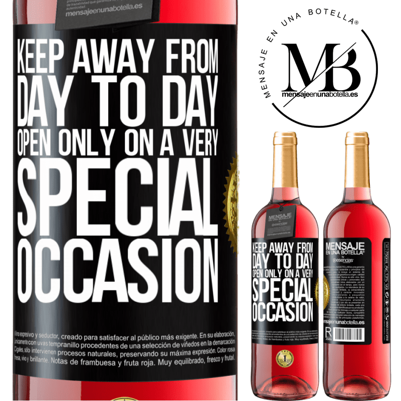 24,95 € Free Shipping   Rosé Wine ROSÉ Edition Keep away from day to day. Open only on a very special occasion Black Label. Customizable label Young wine Harvest 2020 Tempranillo