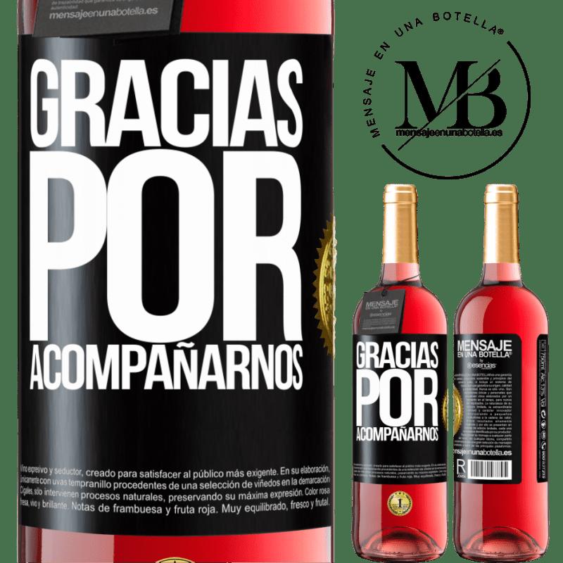 24,95 € Envoi gratuit   Vin rosé Édition ROSÉ Merci de nous accompagner Étiquette Noire. Étiquette personnalisable Vin jeune Récolte 2020 Tempranillo