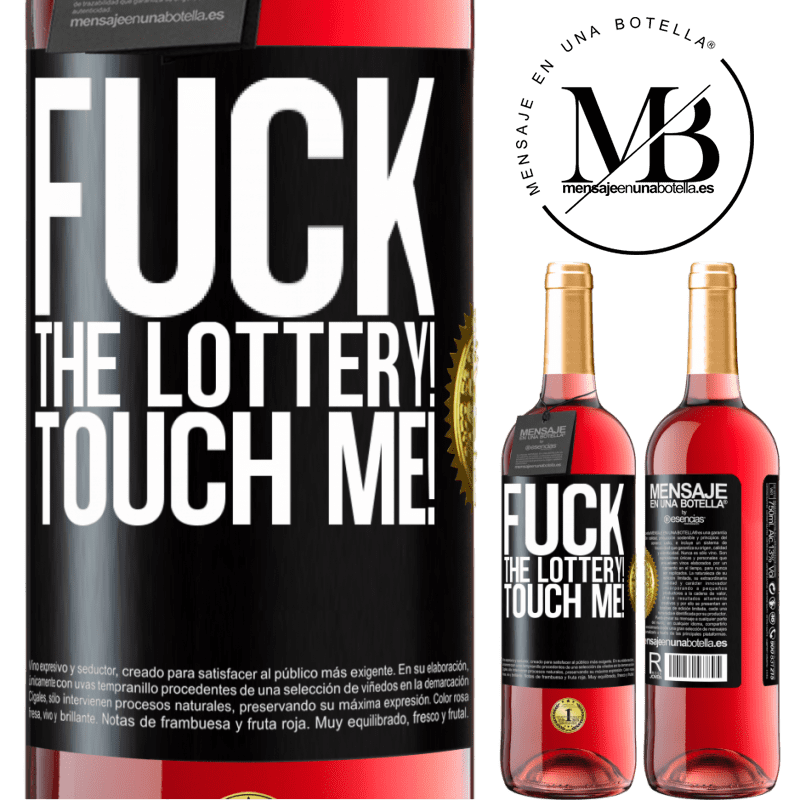 24,95 € Free Shipping   Rosé Wine ROSÉ Edition Fuck the lottery! Touch me! Black Label. Customizable label Young wine Harvest 2020 Tempranillo
