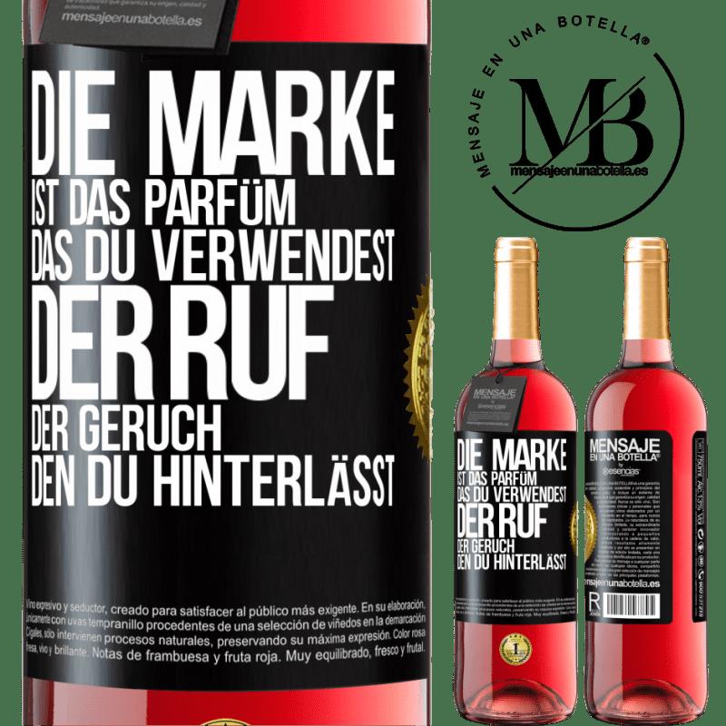 24,95 € Kostenloser Versand | Roséwein ROSÉ Ausgabe Marke ist das Parfüm, das Sie verwenden. Ruf, der Geruch, den du hinterlässt Schwarzes Etikett. Anpassbares Etikett Junger Wein Ernte 2020 Tempranillo