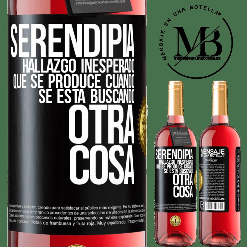 24,95 € Envoi gratuit   Vin rosé Édition ROSÉ Serendipity Découverte inattendue qui se produit lorsque vous recherchez autre chose Étiquette Noire. Étiquette personnalisable Vin jeune Récolte 2020 Tempranillo