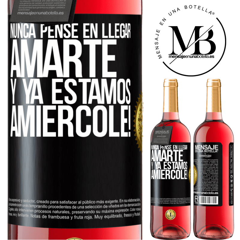 24,95 € Free Shipping | Rosé Wine ROSÉ Edition I never thought of getting to love you. And we are already Amiércole! Black Label. Customizable label Young wine Harvest 2020 Tempranillo