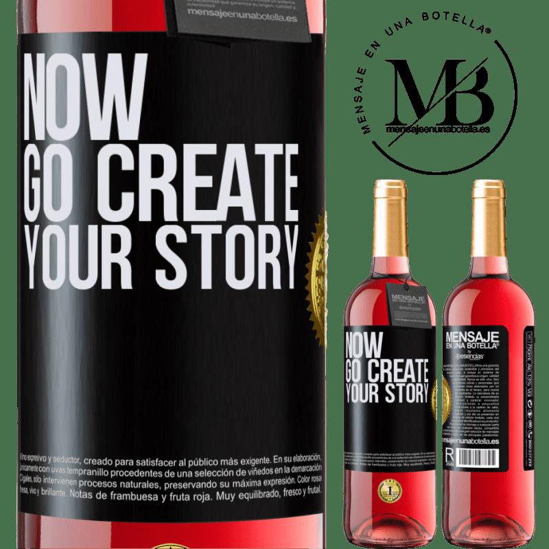 24,95 € Envoi gratuit   Vin rosé Édition ROSÉ Now, go create your story Étiquette Noire. Étiquette personnalisable Vin jeune Récolte 2020 Tempranillo