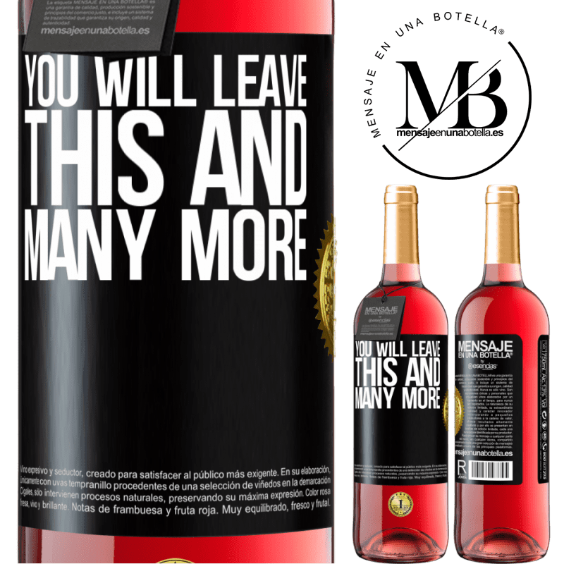 24,95 € Free Shipping   Rosé Wine ROSÉ Edition You will leave this and many more Black Label. Customizable label Young wine Harvest 2020 Tempranillo
