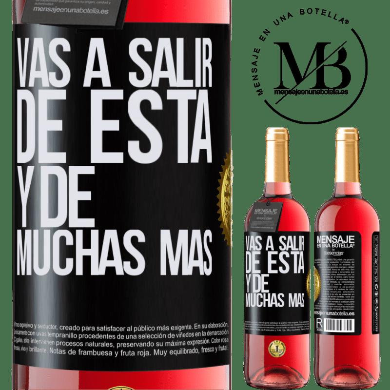 24,95 € Envoi gratuit | Vin rosé Édition ROSÉ Vous quitterez cela et bien d'autres Étiquette Noire. Étiquette personnalisable Vin jeune Récolte 2020 Tempranillo