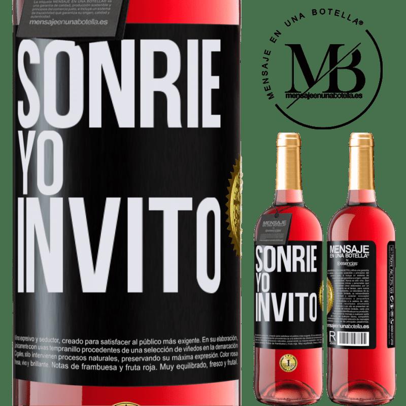 24,95 € Envoi gratuit   Vin rosé Édition ROSÉ Souris, j'invite Étiquette Noire. Étiquette personnalisable Vin jeune Récolte 2020 Tempranillo