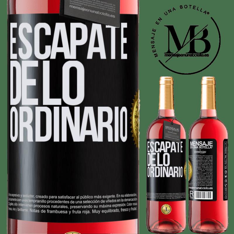 24,95 € Envoi gratuit | Vin rosé Édition ROSÉ Échapper à l'ordinaire Étiquette Noire. Étiquette personnalisable Vin jeune Récolte 2020 Tempranillo