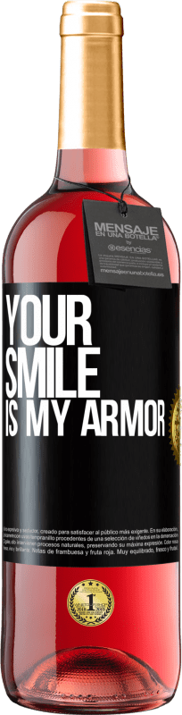24,95 € Free Shipping | Rosé Wine ROSÉ Edition Your smile is my armor Black Label. Customizable label Young wine Harvest 2020 Tempranillo