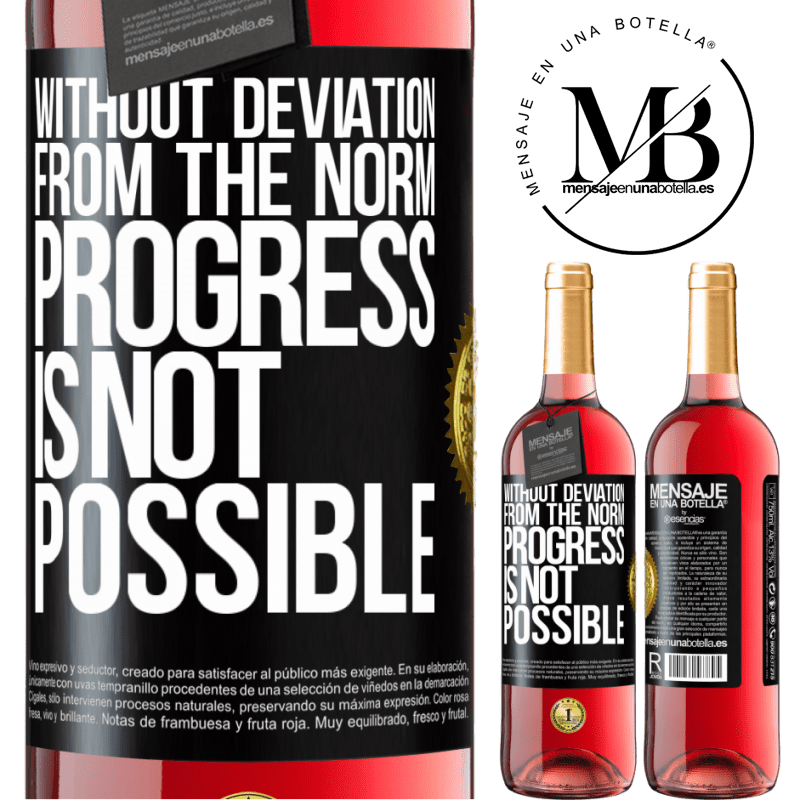 24,95 € Free Shipping   Rosé Wine ROSÉ Edition Without deviation from the norm, progress is not possible Black Label. Customizable label Young wine Harvest 2020 Tempranillo
