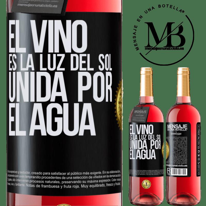 24,95 € Envoi gratuit   Vin rosé Édition ROSÉ Le vin est la lumière du soleil, unie par l'eau Étiquette Noire. Étiquette personnalisable Vin jeune Récolte 2020 Tempranillo