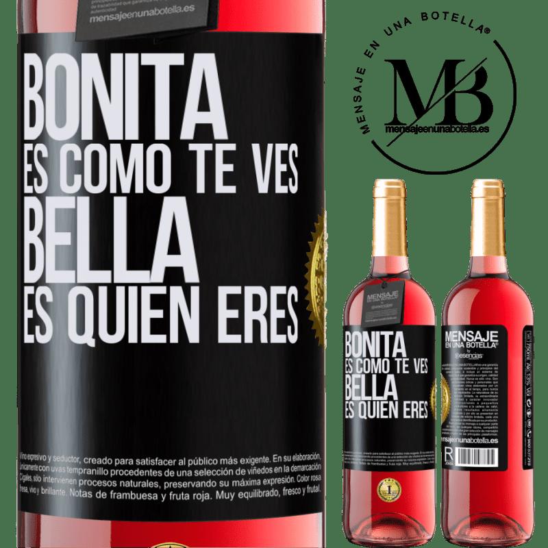 24,95 € Envoi gratuit   Vin rosé Édition ROSÉ C'est joli à quoi tu ressemble, belle est qui tu es Étiquette Noire. Étiquette personnalisable Vin jeune Récolte 2020 Tempranillo
