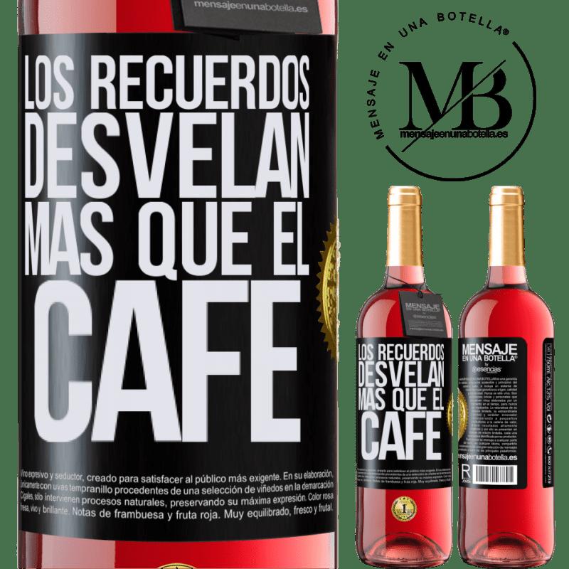 24,95 € Envoi gratuit | Vin rosé Édition ROSÉ Les souvenirs révèlent plus que du café Étiquette Noire. Étiquette personnalisable Vin jeune Récolte 2020 Tempranillo