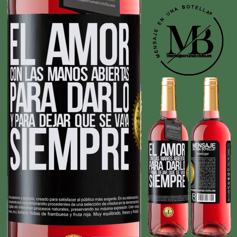 24,95 € Envoi gratuit   Vin rosé Édition ROSÉ L'amour, les mains ouvertes. Pour le donner et le laisser partir. Toujours Étiquette Noire. Étiquette personnalisable Vin jeune Récolte 2020 Tempranillo