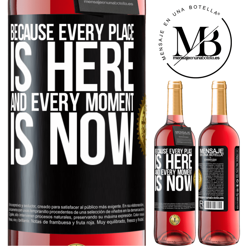 24,95 € Free Shipping   Rosé Wine ROSÉ Edition Because every place is here and every moment is now Black Label. Customizable label Young wine Harvest 2020 Tempranillo