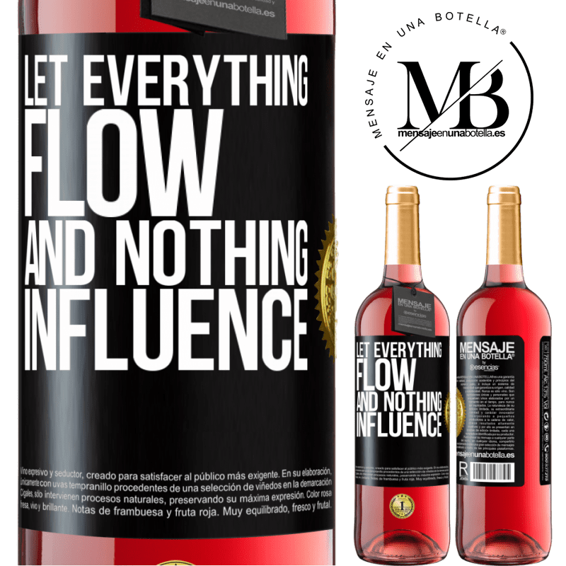 24,95 € Free Shipping | Rosé Wine ROSÉ Edition Let everything flow and nothing influence Black Label. Customizable label Young wine Harvest 2020 Tempranillo