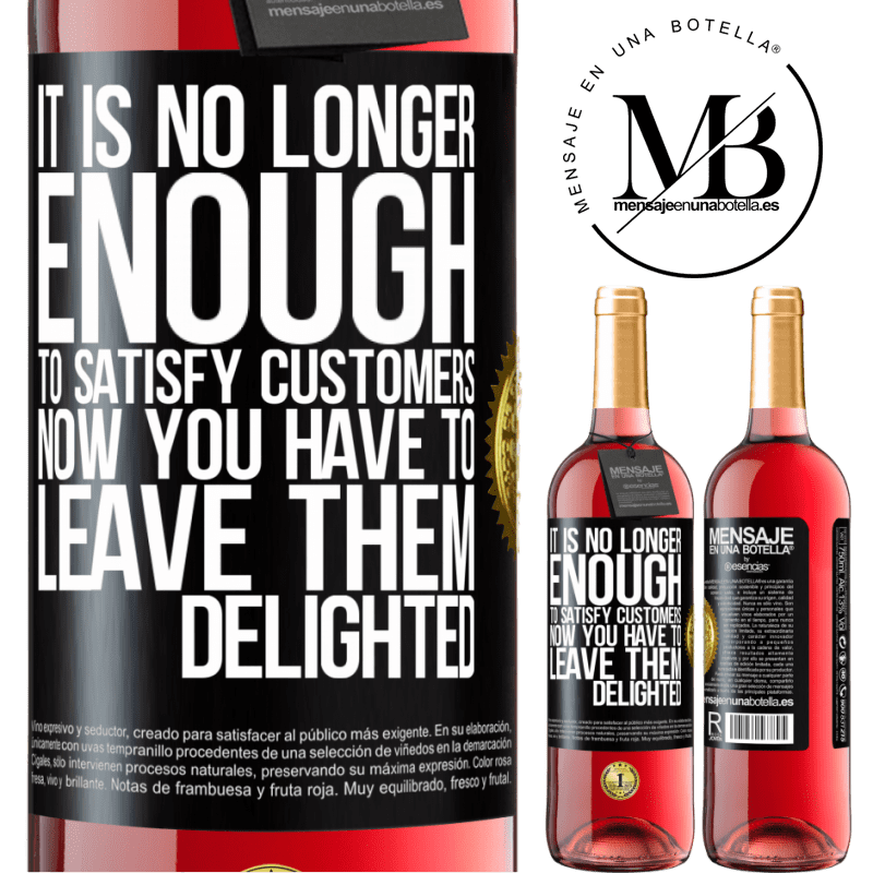 24,95 € Free Shipping | Rosé Wine ROSÉ Edition It is no longer enough to satisfy customers. Now you have to leave them delighted Black Label. Customizable label Young wine Harvest 2020 Tempranillo