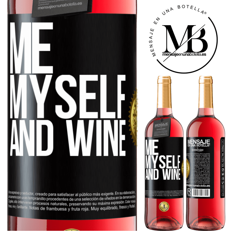 24,95 € Free Shipping | Rosé Wine ROSÉ Edition Me, myself and wine Black Label. Customizable label Young wine Harvest 2020 Tempranillo