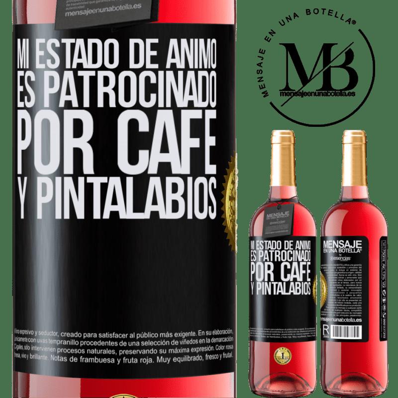 24,95 € Envoi gratuit   Vin rosé Édition ROSÉ Mon humeur est parrainée par le café et le rouge à lèvres Étiquette Noire. Étiquette personnalisable Vin jeune Récolte 2020 Tempranillo