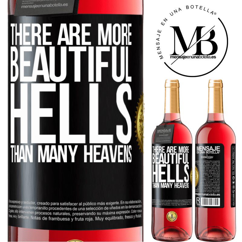 24,95 € Free Shipping | Rosé Wine ROSÉ Edition There are more beautiful hells than many heavens Black Label. Customizable label Young wine Harvest 2020 Tempranillo